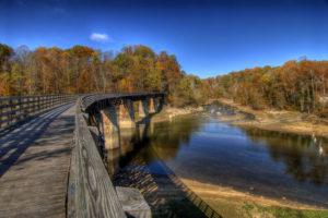 A bridge on a trail near Abingdon, VA
