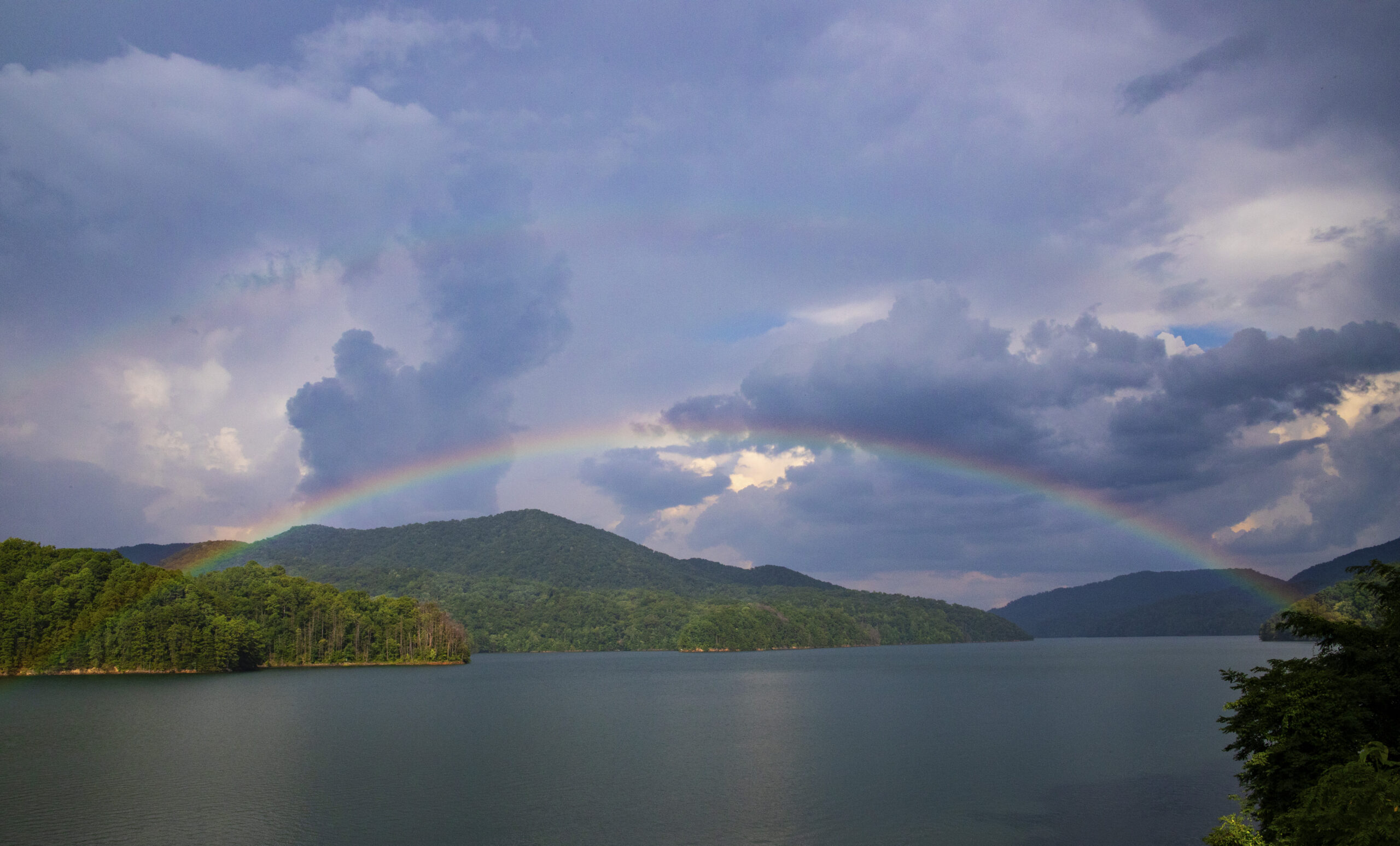 Rainbow over Fontana Lake