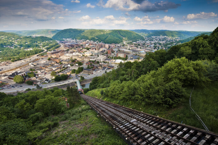Inclined plane above the city of Johnstown, PA