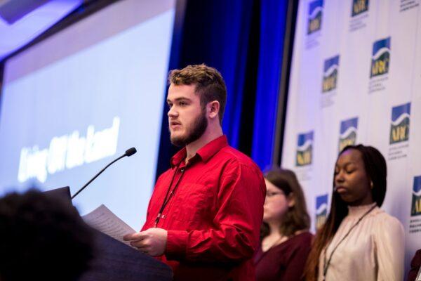 Student presents at ATP symposium