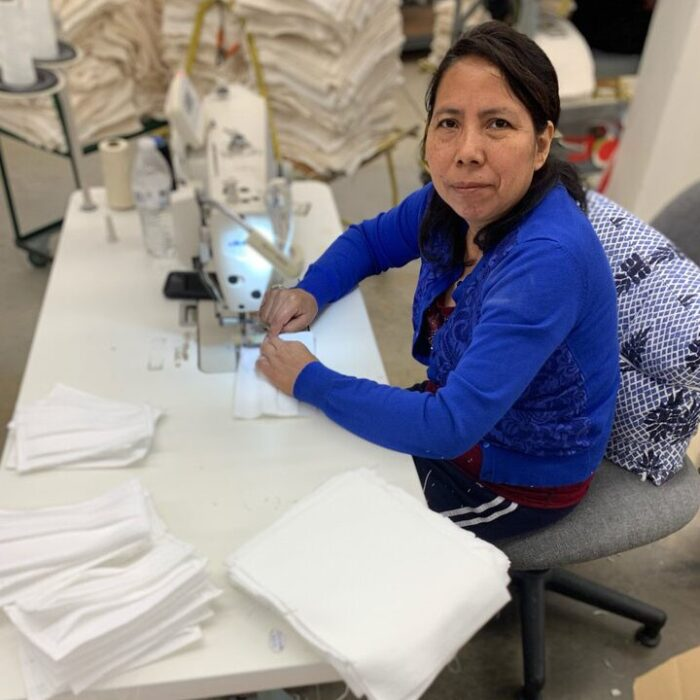 Woman sews medical safety gear in light of COVID-19 in North Carolina