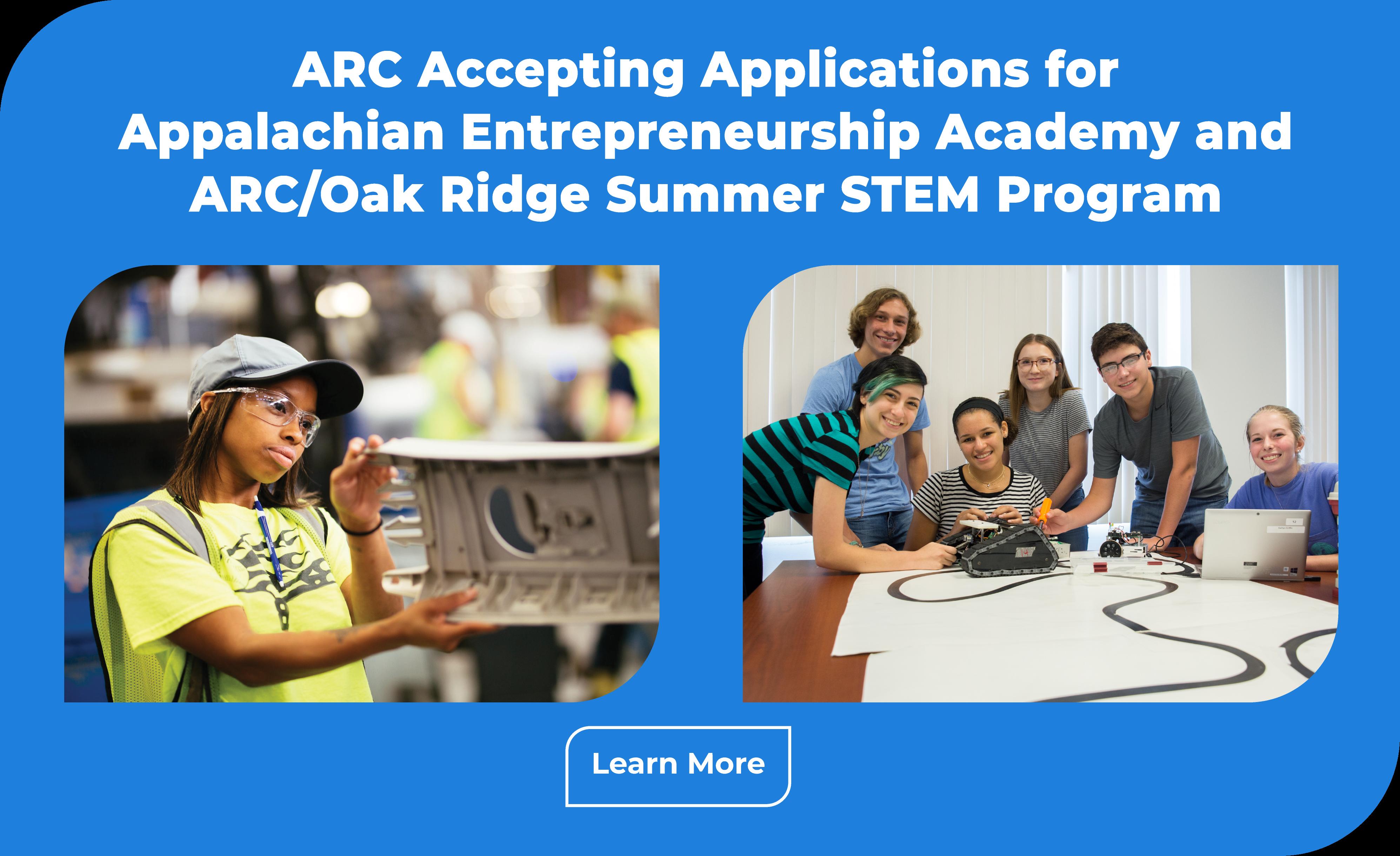 ARC Seeks Applicants for Entrepreneurship and STEM Programs