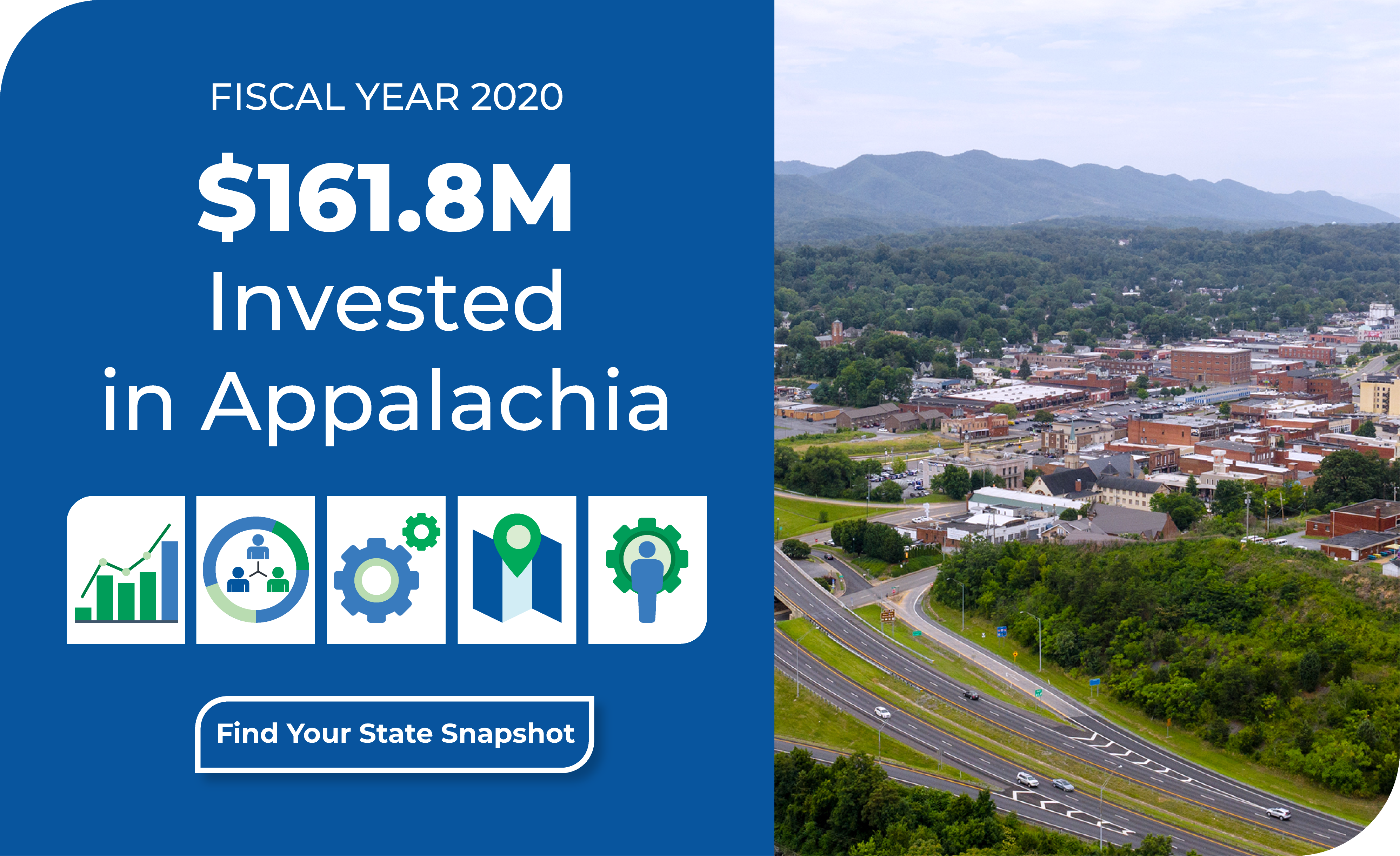 Fiscal Year 2020 $161.8 Million Invested in Appalachia. Click to find your state snapshot.